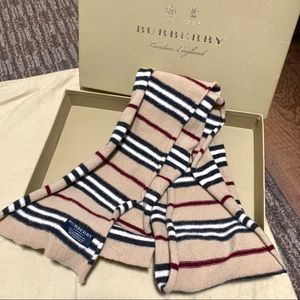 Authentic Burberry Long Skinny Lambswool Scarf